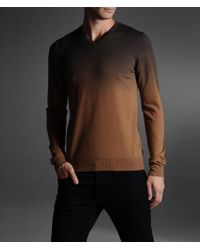Armani V Neck Sweater - Lyst