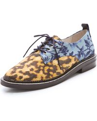 B Store - Edie Lace Up Oxfords - Lyst