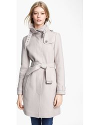 Burberry Brit Rushworth Belted Wool Blend Coat - Lyst