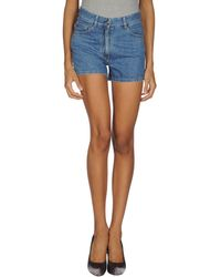 Chloé Denim Shorts - Lyst