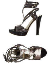 Just Cavalli Platform Sandals - Lyst