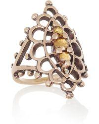 Laurent Gandini - Anello Navette 9karat Rose Gold Diamond Ring - Lyst