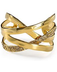 Alexis - Bittar Bel Air Gold Druzy Ribbon Cuff - Lyst