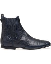 Balenciaga Balenciaga Brogues Ankle Boots Black - Lyst