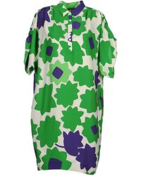 Diane von Furstenberg Short Dress green - Lyst