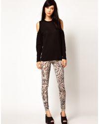 Emma Cook - Leggings In Snake Print Silk Mix Jersey - Lyst
