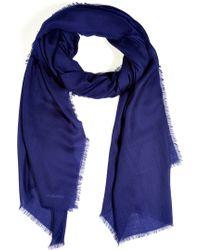 Jil Sander French Blue Cashmere Scarf blue - Lyst