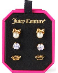 Juicy Couture - Charmy Stud Set - Lyst