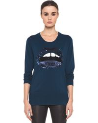 Markus Lupfer Lip Nat Jumper in Teal - Lyst