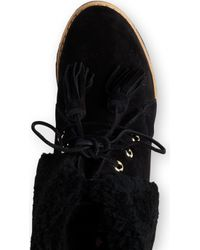 Mulberry - Sheepskin Wedge Ankle Boots - Lyst