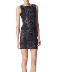 Oasis Peacock Print Dress - Lyst