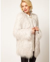 ASOS Collection Asos Mongolian Fur Jacket - Lyst