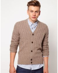Ben Sherman Cable Cardigan - Lyst