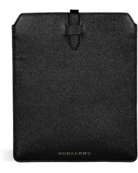 Burberry Textured Black Leather Tuffley Ipad Case - Lyst