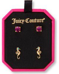 Juicy Couture - Seahorse Stud Earrings Duo - Lyst