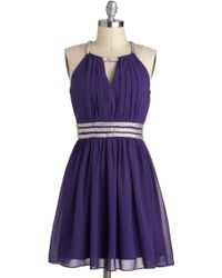 ModCloth Royal Purple Dreams Dress - Lyst
