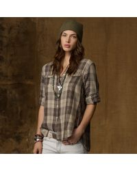 Denim & Supply Ralph Lauren Slouchy Plaid Utility Shirt - Lyst
