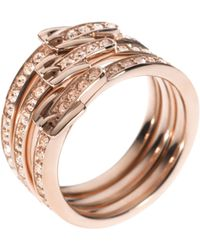 Michael Kors Multistone Barrel Ring  gold - Lyst