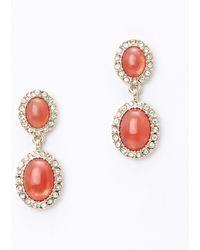 Ann Taylor Pave Stone Drop Earrings - Lyst