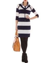 Karen Millen Sporty Stripe Knit Dress - Lyst