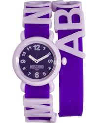 Moschino - Cheap Chic Fashion Alphabet Watch - Lyst