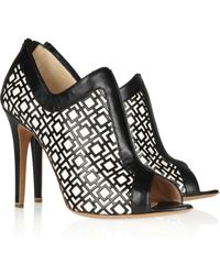 Nicholas Kirkwood Geometricpatterned Leather Pumps - Lyst