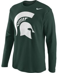 Nike Michigan State Spartans Thermal Shirt - Lyst