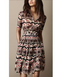Burberry Brit - Printed Shirt Dress - Lyst