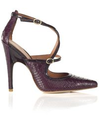Sigerson Morrison Betty Crisscross Pump - Lyst