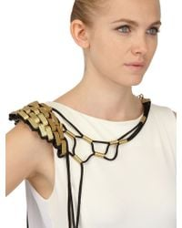Susana Bettencourt Shoulder Necklace gold - Lyst