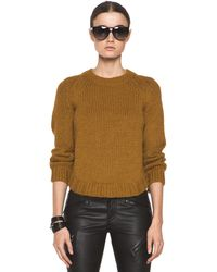 Theyskens' Theory Knop Yourney Sweater in Mustard - Lyst