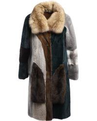 Liska Debbie Fur Coat - Lyst