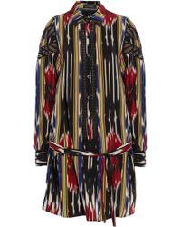 Thakoon - Ikat-print Silk-crepe Shirt Dress - Lyst