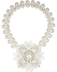 Bottega Veneta Enamelled Sterling Silver Necklace - Lyst