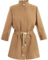 Chloé Desert Beige Wool Coat - Lyst