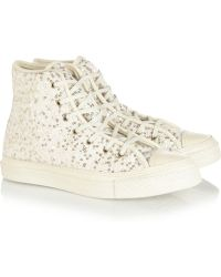 Converse Sequined Texturedwool Hightop Sneakers - Lyst