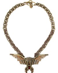 Lanvin Glass Crystal Eagle Necklace - Lyst