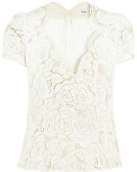 Lover Rosebud Lace Top - Lyst