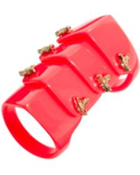 Vivienne Westwood Resin Armour Ring - Lyst