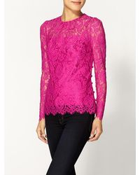 Milly Ivy Lace Blouse - Lyst