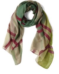 ModCloth Sheer Plaidness Scarf - Lyst