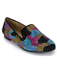 Steve Madden Conncord Multi Coloured Rhinestone Camouflage Loafer - Lyst