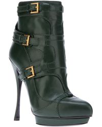 Alexander McQueen Pointed Ankle Boot - Lyst
