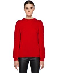 Chloé Ribbed Pullover in Red - Lyst