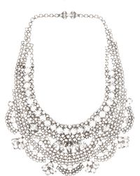 Tom Binns Madame Dumont Crystal Necklace in White - Lyst