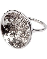 Alexis Bittar Bowl Shape Crystal Ring - Lyst