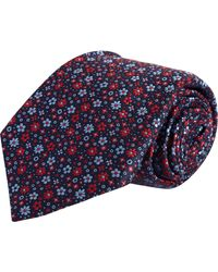 Barneys New York Jacquard Mini Floral Tie - Lyst