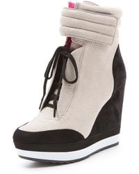 Boutique 9 - Whispers Wedge Trainers - Lyst