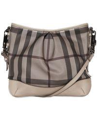 Burberry - Hartham Smoked Check Pvc Shoulder Bag - Lyst
