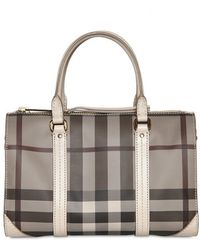 Burberry - Small Chester Smoked Check Pvc Bag - Lyst